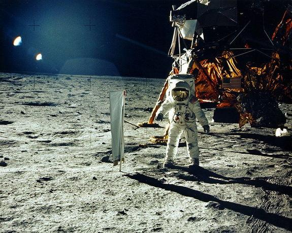 Apollo 11's Tranquility Base landing site on the moon — a future tourist haven needing protection?