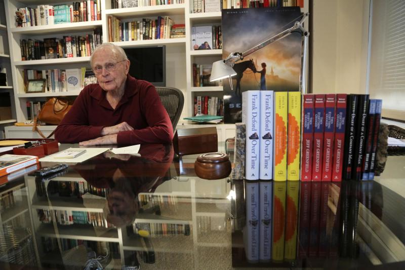 In this Tuesday, Jan. 8 2013 photo, literary agent Sterling Lord speaks during an interview in his New York office. Lord is now 92 years old and still keeps regular hours, at the bright, downtown offices of Sterling Lord Literistic Inc. His clients have ranged from Ken Kesey to the creators of the Berenstain Bears. He has lunched with Jackie Kennedy, played tennis with Katherine Graham and had the will to say no to Lyndon Johnson when the president was seeking help to get a book deal. (AP Photo/Mary Altaffer)