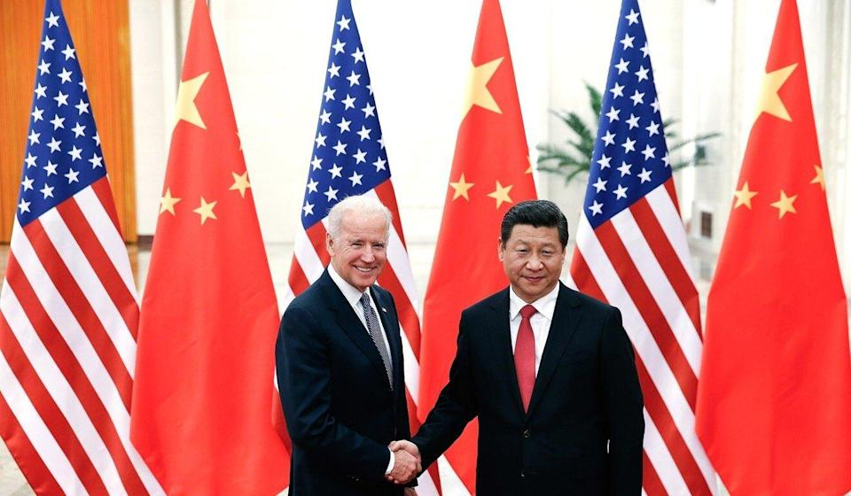 A meeting in 2013 between then vice-president Joe Biden and Chinese President Xi Jinping. Photo: Getty Images
