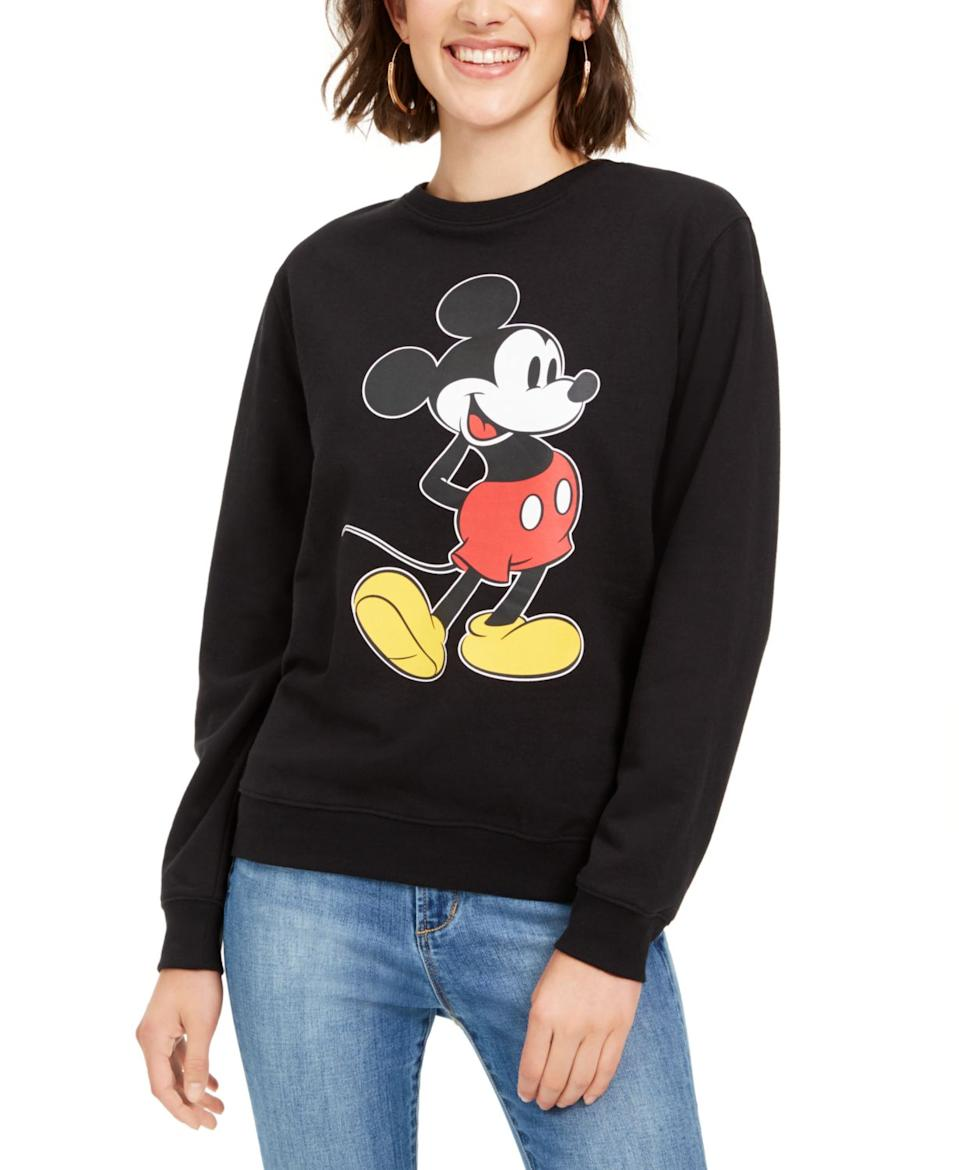 """<br><br><strong>Disney</strong> Juniors' Mickey Mouse Graphic Sweatshirt, $, available at <a href=""""https://www.macys.com/shop/product/disney-juniors-mickey-mouse-graphic-sweatshirt?ID=10126885&CategoryID=80422"""" rel=""""nofollow noopener"""" target=""""_blank"""" data-ylk=""""slk:Macy's"""" class=""""link rapid-noclick-resp"""">Macy's</a>"""