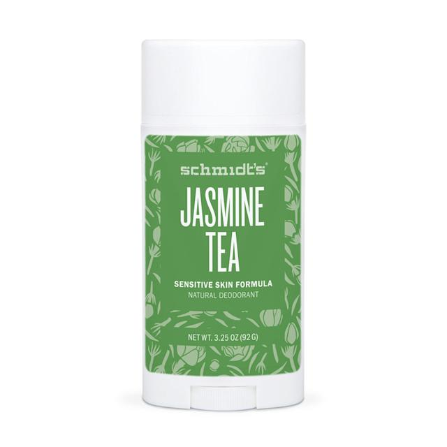 """<p><em>Allure's</em> senior beauty features editor Cotton Codinha swears by Schmidt's Jasmine Tea Sensitive Skin Formula as one of her must-have aluminum-free picks. Its vegan formula contains no aluminum or any other toxins, <em>and</em> it's free of baking soda (a common irritant for folks with sensitive skin). Infused with coconut oil and shea butter, as well as plant-based powders that absorb sweat, it leaves you feeling fresh and dry for hours. Its scent is also light and never overpowering like some deos can be.</p> <p>$8 (<a href=""""https://shop-links.co/1675590271101480206"""" rel=""""nofollow noopener"""" target=""""_blank"""" data-ylk=""""slk:Shop Now"""" class=""""link rapid-noclick-resp"""">Shop Now</a>)</p>"""
