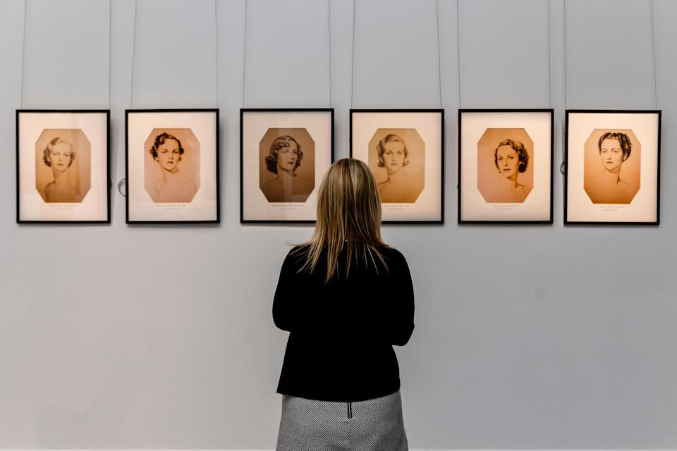 William Acton's iconic portraits of the Mitford sisters shown at Sotheby's in 2016, before a sale following the death of the Duchess of DevonshireGetty Images