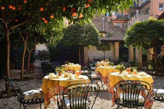 The hotel is located in the heart of lively Trastevere (Hotel Santa Maria)