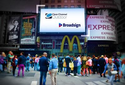 Clear Channel Outdoor and Broadsign team up to offer digital media buyers even wider access to digital out-of-home inventory available programatically.