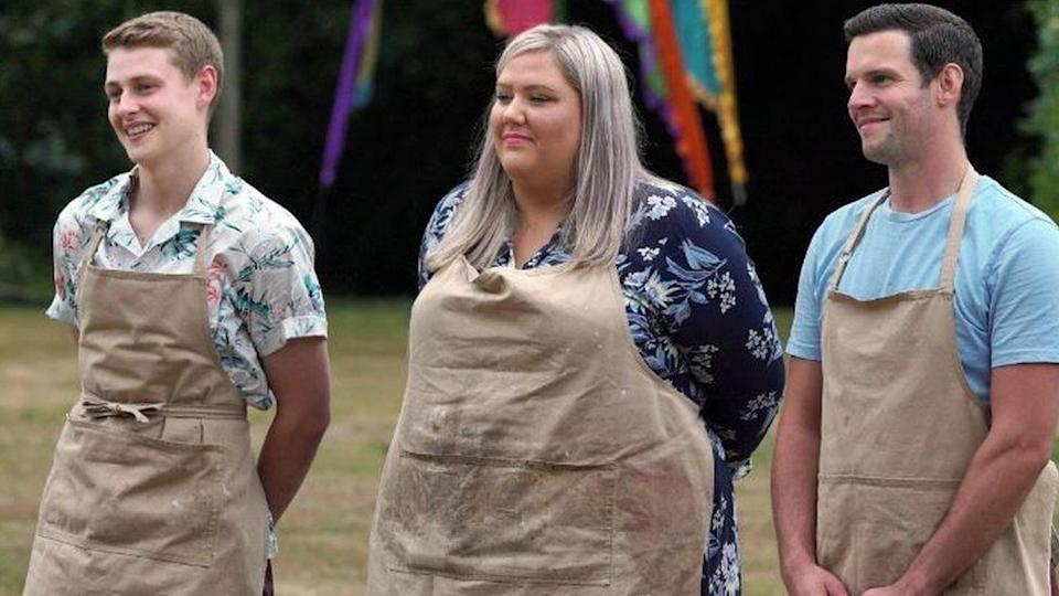 This year's Bake Off top three (Photo: Channel 4)