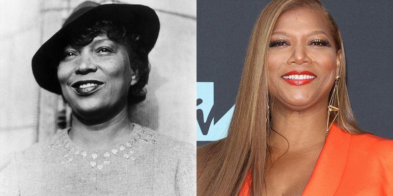 <p>In every other way, Queen Latifah is truly unique, but when it comes to her looks, the singer and actress has a striking resemblance to novelist and folklorist Zora Neale Hurston.</p>