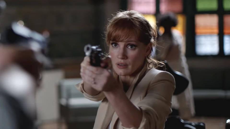 Jessica Chastain in 'The 355'. (Credit: Universal)