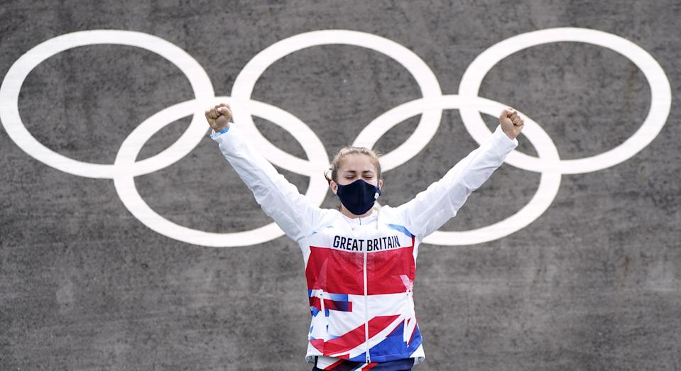 Beth Shriever won Great Britain's first BMX racing gold (Danny Lawson/PA) (PA Wire)