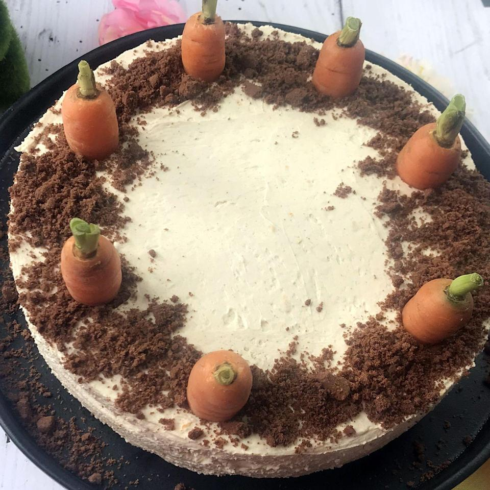 """<p>Why have cake or cheesecake when you can have both? This combination is heavenly and surprisingly light.</p><p><strong>Recipe: <a href=""""https://www.goodhousekeeping.com/uk/valentines-day/valentines-recipes/carrot-cake-cheesecake"""" rel=""""nofollow noopener"""" target=""""_blank"""" data-ylk=""""slk:Carrot cake cheesecake"""" class=""""link rapid-noclick-resp"""">Carrot cake cheesecake</a> </strong></p>"""