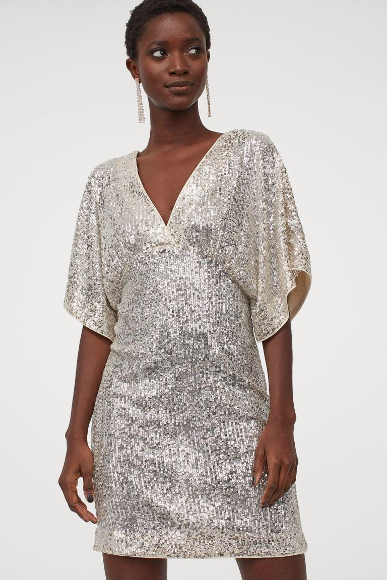 <p><span>H&amp;M Wide-Sleeved Sequined Dress</span> ($50)</p>