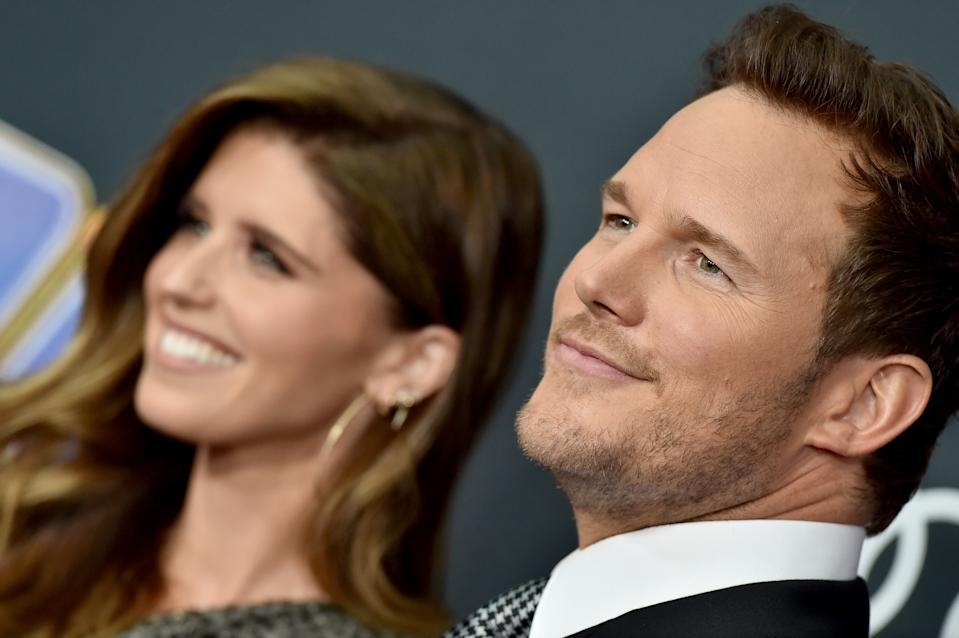 Katherine Schwarzenegger and Chris Pratt attend the World Premiere of Walt Disney Studios Motion Pictures 'Avengers: Endgame' at Los Angeles Convention Center on April 22, 2019 in Los Angeles, California. (Photo by Axelle/Bauer-Griffin/FilmMagic)