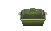 """<p><strong>Le Creuset</strong></p><p>lecreuset.com</p><p><a href=""""https://go.redirectingat.com?id=74968X1596630&url=https%3A%2F%2Fwww.lecreuset.com%2Fheritage-square-casserole-spinach-factory-to-table-sale%2FPG08053A-2388.html&sref=https%3A%2F%2Fwww.cosmopolitan.com%2Ffood-cocktails%2Fg36067224%2Fle-creuset-factory-to-table-sale%2F"""" rel=""""nofollow noopener"""" target=""""_blank"""" data-ylk=""""slk:Shop Now"""" class=""""link rapid-noclick-resp"""">Shop Now</a></p><p><strong><del>$100</del> $50 (50% off)</strong></p><p>Your creamy casseroles will taste <em>that</em> much better when cooked in this dish. The magic lies in its stoneware construction, which maintains even temperatures and prevents scorching. </p>"""