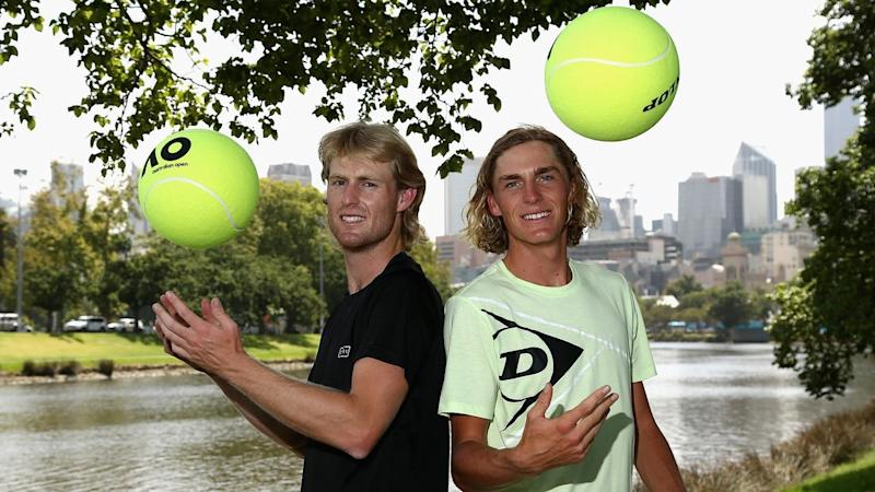Luke Saville and Max Purcell have been beaten in straight sets in the Australian Open doubles final