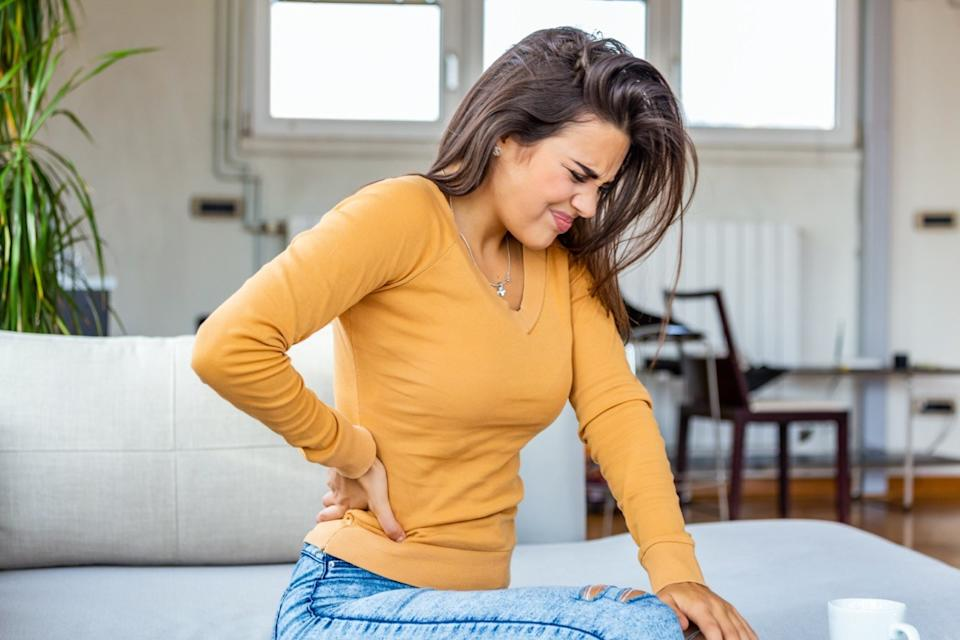 woman Having Spinal Or Kidney Pain
