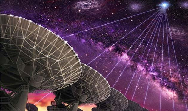Scientists have used a multi-antenna telescope to trace the radio signals