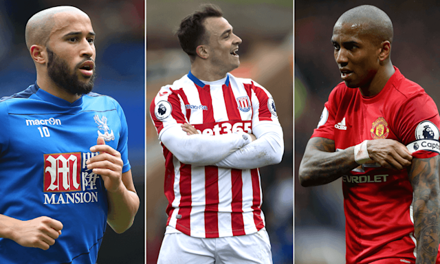 "<span class=""element-image__caption"">Andros Townsend, Shaqiri and Ashley Young.</span> <span class=""element-image__credit"">Composite: Getty/Rex?Reuters</span>"