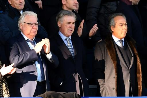 Everton's major shareholder Farhad Moshiri (right) has pulled off an ambitious move to appoint Carlo Ancelotti (centre) as the club's new manager