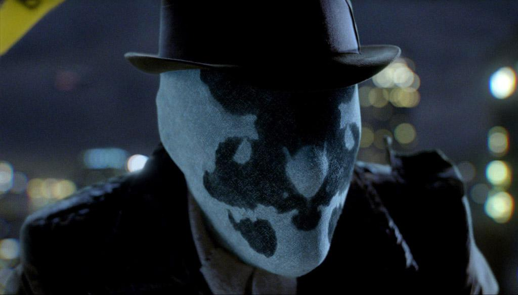 """<a href=""""http://movies.yahoo.com/movie/contributor/1800031219"""">Jackie Earle Haley</a> as Rorschach in Warner Bros. Pictures' <a href=""""http://movies.yahoo.com/movie/1808406490/info"""">Watchmen</a> - 2009"""