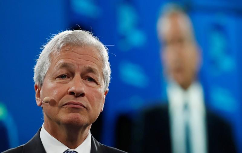 Jamie Dimon, chairman & CEO of JP Morgan Chase & Co., speaks during the Bloomberg Global Business Forum in New York City
