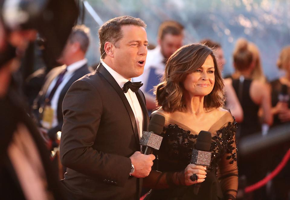 Karl and Lisa on the red carpet