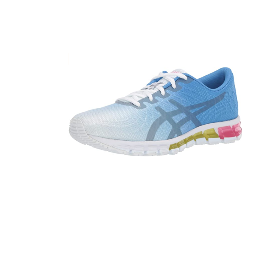 """<p><strong>ASICS</strong></p><p>amazon.com</p><p><strong>$249.99</strong></p><p><a href=""""https://www.amazon.com/dp/B07FPFL9PG?th=1&tag=syn-yahoo-20&ascsubtag=%5Bartid%7C10055.g.26960479%5Bsrc%7Cyahoo-us"""" rel=""""nofollow noopener"""" target=""""_blank"""" data-ylk=""""slk:Shop Now"""" class=""""link rapid-noclick-resp"""">Shop Now</a></p><p>Testers loved Asics Gel Quantum 180 for being comfortable, supportive, well-cushioned, and having an excellent fit. Testers also loved the stylish appearance — these sneaks are available in 11 colors from classic black and white to bright blues and pinks. Dr. Splichal and Dr. Metzl both like these sneakers for <strong>providing excellent stability and control, ideal for people with flat feet.</strong> All testers reported that they liked these sneakers more than their current ones and would continue to wear them. </p>"""