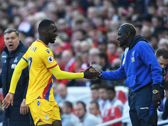 Benteke and Sakho celebrated with a private handshake joke (Getty)