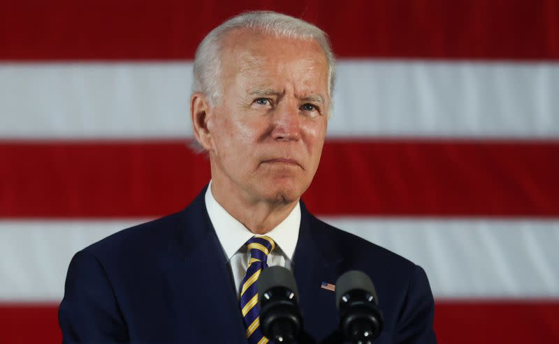 Democratic U.S. presidential candidate Biden speaks at campaign event in Darby, Pennsylvania