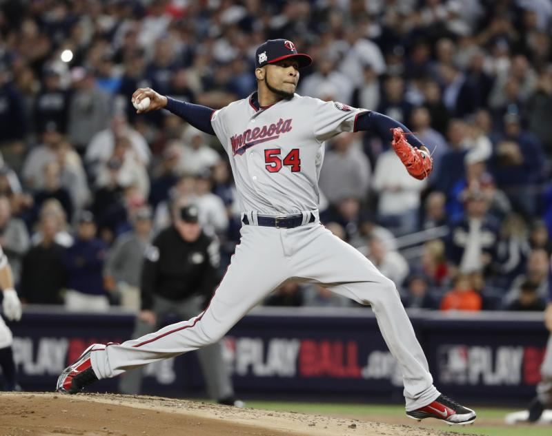 Twins pitcher Ervin Santana will miss 10-12 weeks after a finger injury needed surgery. (AP)