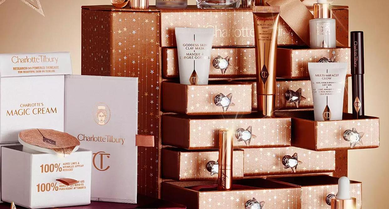 From Charlotte Tilbury to Clinique, here are the calendars that are reduced right now. (Charlotte Tilbury/ John Lewis)