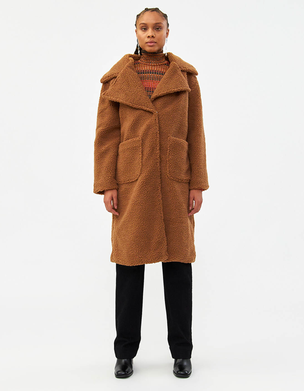"""Or, if you're not looking to spend a few months' rent on outerwear, achieve the same level of comfort with this affordable option from Need Supply. $138, Need Supply. <a href=""""https://needsupply.com/christine-teddy-coat/WQ09019.html?lang=en_US"""" rel=""""nofollow noopener"""" target=""""_blank"""" data-ylk=""""slk:Get it now!"""" class=""""link rapid-noclick-resp"""">Get it now!</a>"""