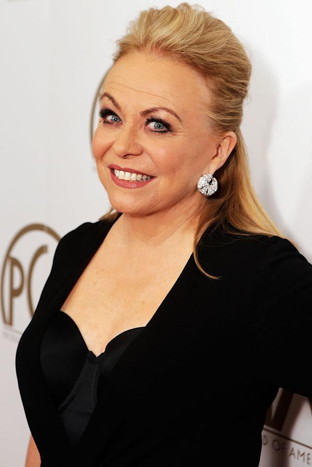 BEVERLY HILLS, CA - JANUARY 26:  Actress Jacki Weaver arrives at the 24th Annual Producers Guild Awards held at The Beverly Hilton Hotel on January 26, 2013 in Beverly Hills, California.  (Photo by Jeff Vespa/WireImage)