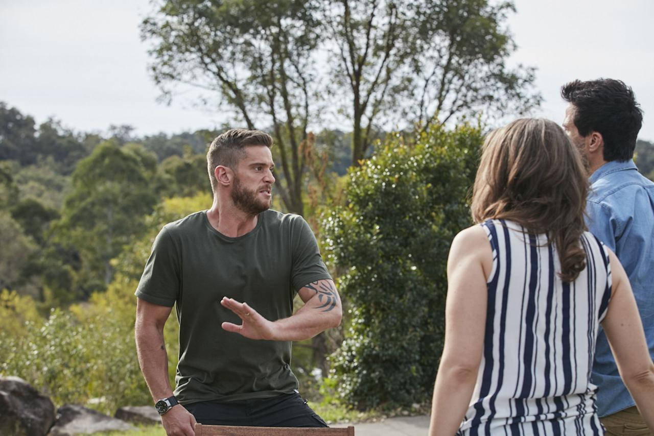<p>Given their history, Zac is the last person Heath wants to see supporting Bianca.</p>