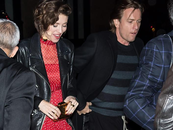 Mary Elizabeth Winstead and Ewan McGregor walking together in New York City in April 2018.