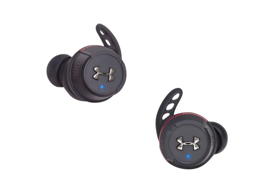 JBL Under Armour True Wireless Flash In-Ear Sound Isolating Sport Headphones. Image via Best Buy.
