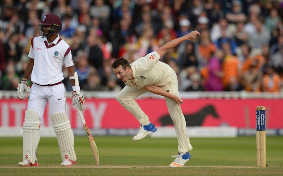 Toby Roland-Jones of England bowls during the third day of the Test match against West Indies at Edgbaston on August 19, 2017 —County Championship 2021 predictions and your club-by-club guide - Philip Brown/GETTY IMAGES