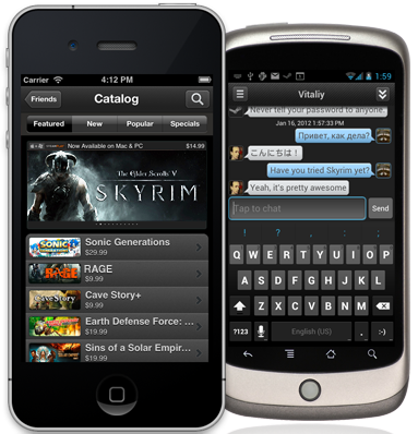 Steam iPhone Android