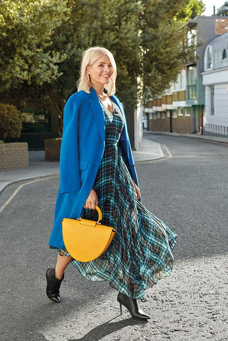 holly-willoughby-blue-green-checked-dress