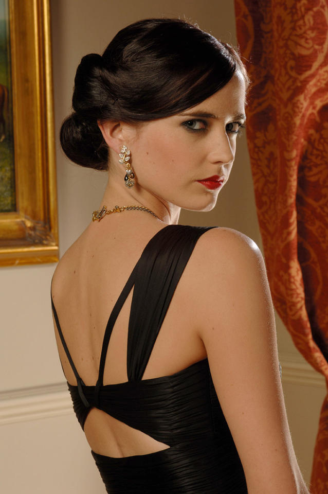 """VESPER LYND   MOVIE: <a href=""""http://movies.yahoo.com/movie/1808476050/info"""">Casino Royale</a>  ACTRESS: <a href=""""http://movies.yahoo.com/movie/contributor/1808499952"""">Eva Green</a>  ALLEGIANCE: Her Majesty's Treasury  LAST SEEN: Drown in a Venice elevator.   SPECIAL SKILLS: Good with numbers and tuxedo sizes. So impossibly gorgeous that you could almost forgive any betrayal."""