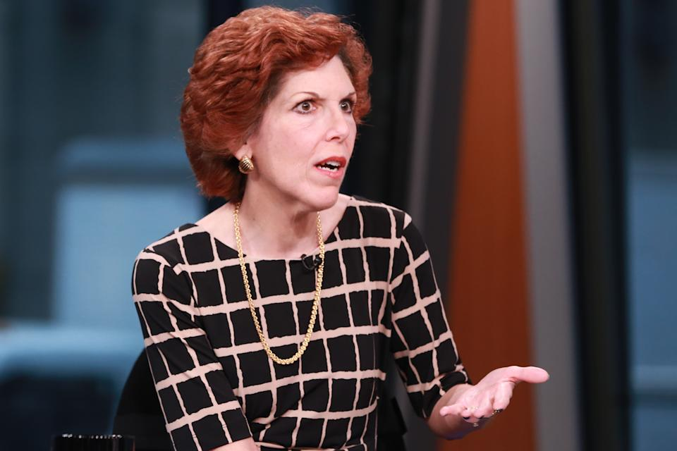 SQUAWK BOX -- Pictured: Loretta Mester, president and CEO of the Federal Reserve Bank of Cleveland, in an interview on November 19, 2015 -- (Photo by: David Orrell/CNBC/NBCU Photo Bank/NBCUniversal via Getty Images)