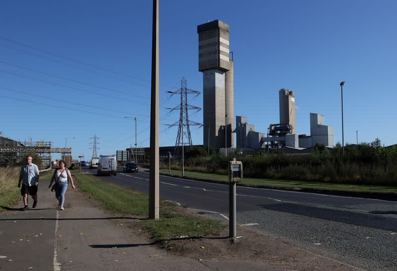 FILE PHOTO: A general view of the CF industries plant in Billingham