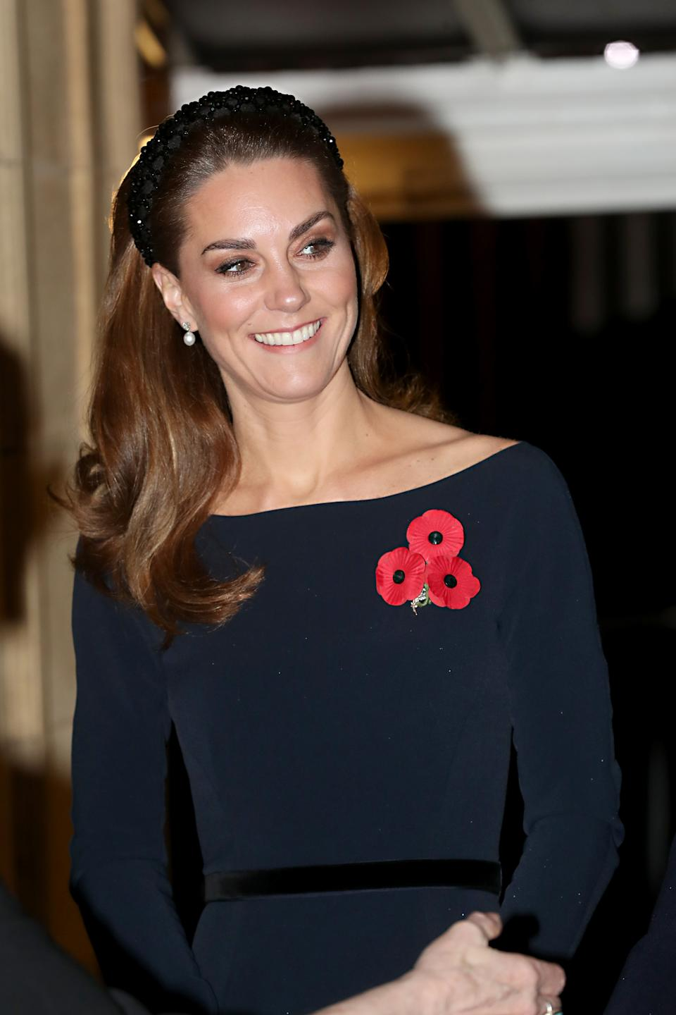 The Duchess of Cambridge's affordable headband received praise online [Image: Getty]