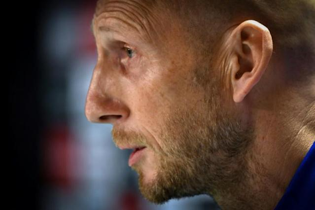 Former Netherlands and Manchester United defender Jaap Stam has been named the new head coach of Major League Soccer's FC Cincinnati (AFP Photo/Andy Buchanan)