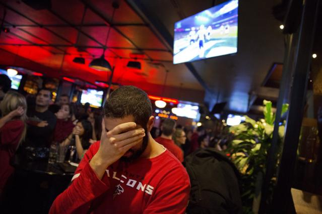 It will be a long time before Falcons fans forget blowing a 28-3 lead in Super Bowl LI. (AP)