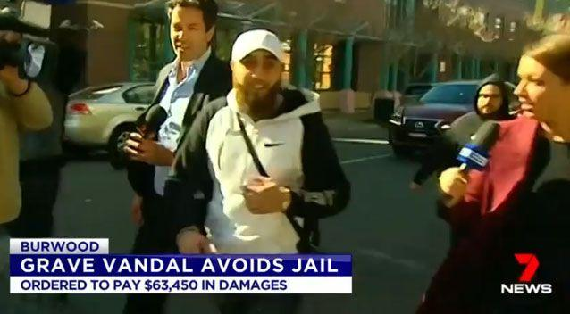 Raad (centre) managed to avoid jail. Source: 7 News