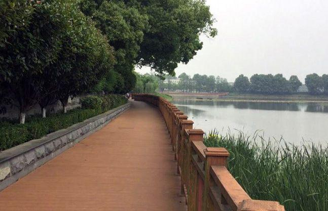 The East Lake where the talks between Modi and Xi will be held.