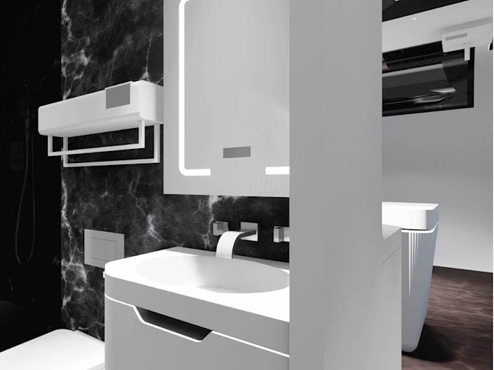 the bathroom inside the one-bedroom Cube Two X
