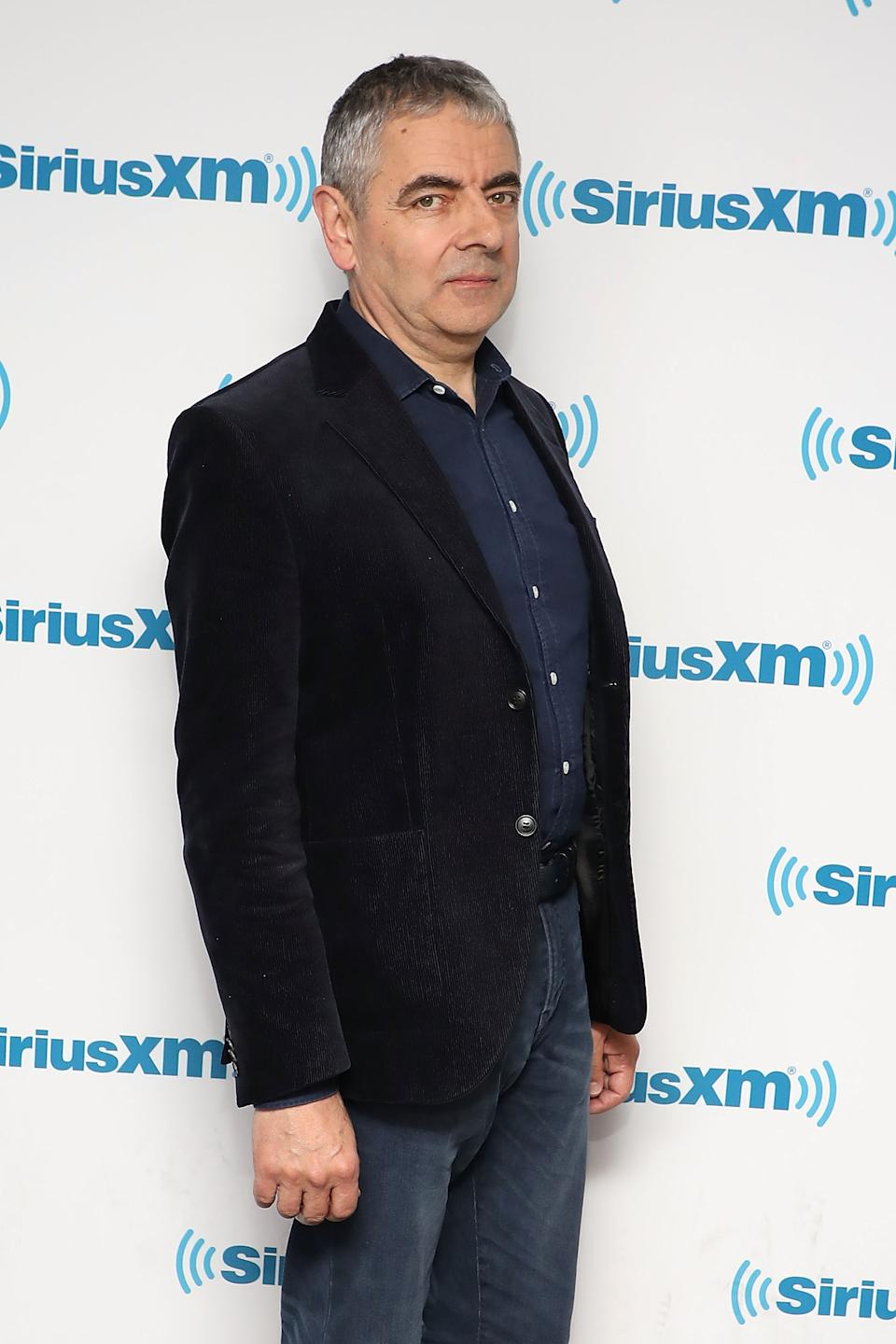 Rowan Atkinson visits the SiriusXM Studios on October 23, 2018 in New York City.  (Photo by Taylor Hill/Getty Images)