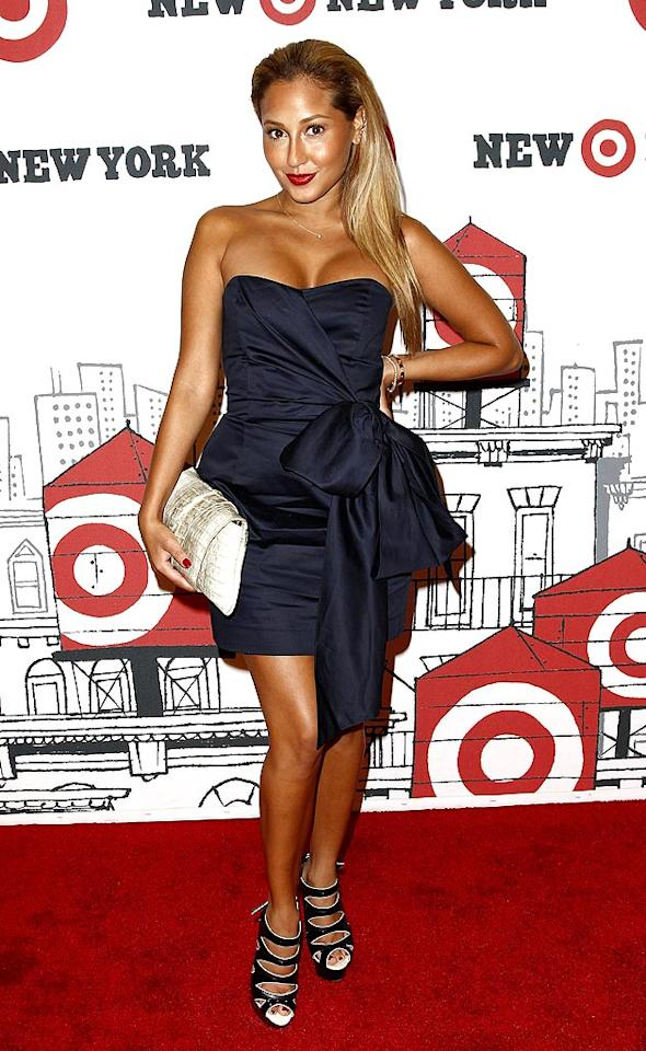 """Former """"Cheetah Girl"""" Adrienne Bailon made an attempt to get all dolled up, but there was really no need since her scary tan overpowered everything else. Brian Ach/<a href=""""http://www.wireimage.com"""" target=""""new"""">WireImage.com</a> - July 20, 2010"""