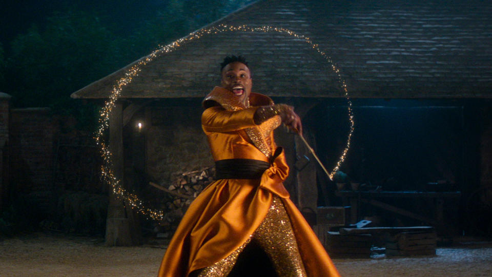 Billy Porter portrays a genderless version of the Fairy Godmother, aka Fab G, in the newest take on 'Cinderella'. (Amazon)