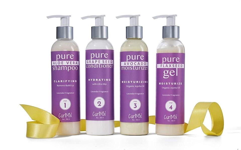<p>Give your hair the care it needs with this <span>CurlMix Lavender Wash + Go System with Organic Jojoba Oil For Moisturizing Hair</span> ($85).</p>